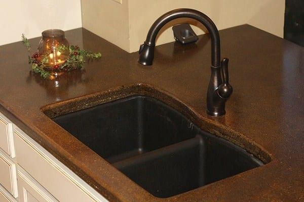 Design by technique: DIY Kitchen Concrete Countertop
