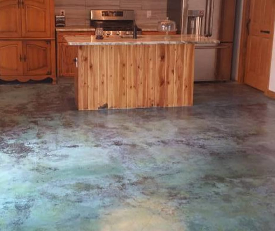 Direct Colors Azure Blue Acid Stain, Acrylic Sealer and Floor Wax