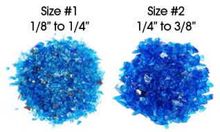 Crushed Glass Aggregate Ruler - Size #1 and Size #2