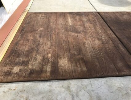 Acid Staining Faux Wood Stamped Concrete