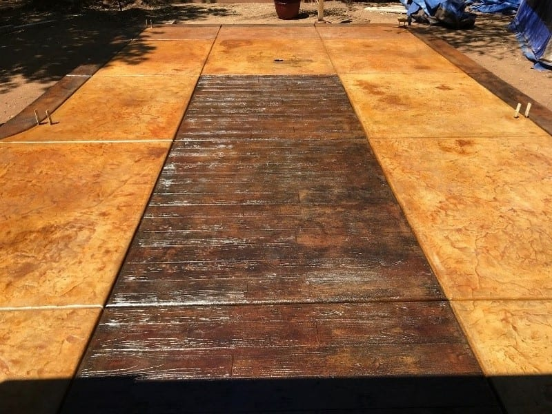 Faux Wood Stamped Concrete