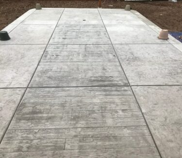 Concrete patio before acid staining