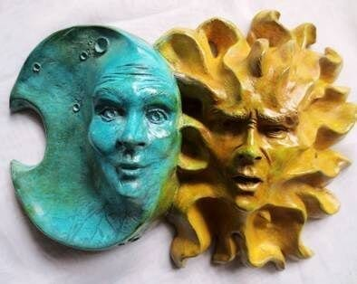 Design by colorant: Acid Stained Concrete Sculptures