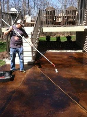 Concrete Sealer Patio Application