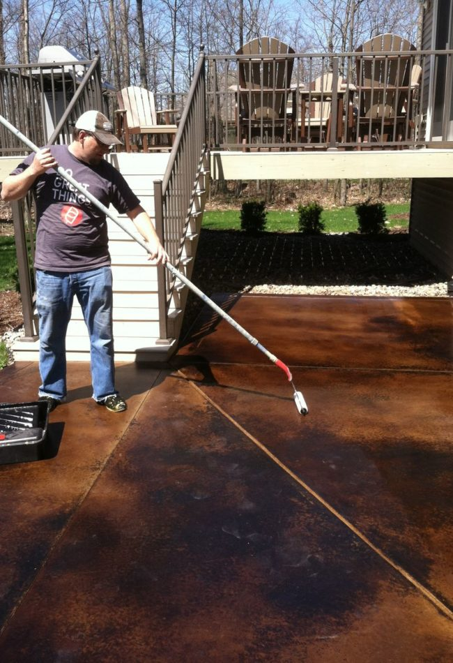 Concrete Sealer Patio Application