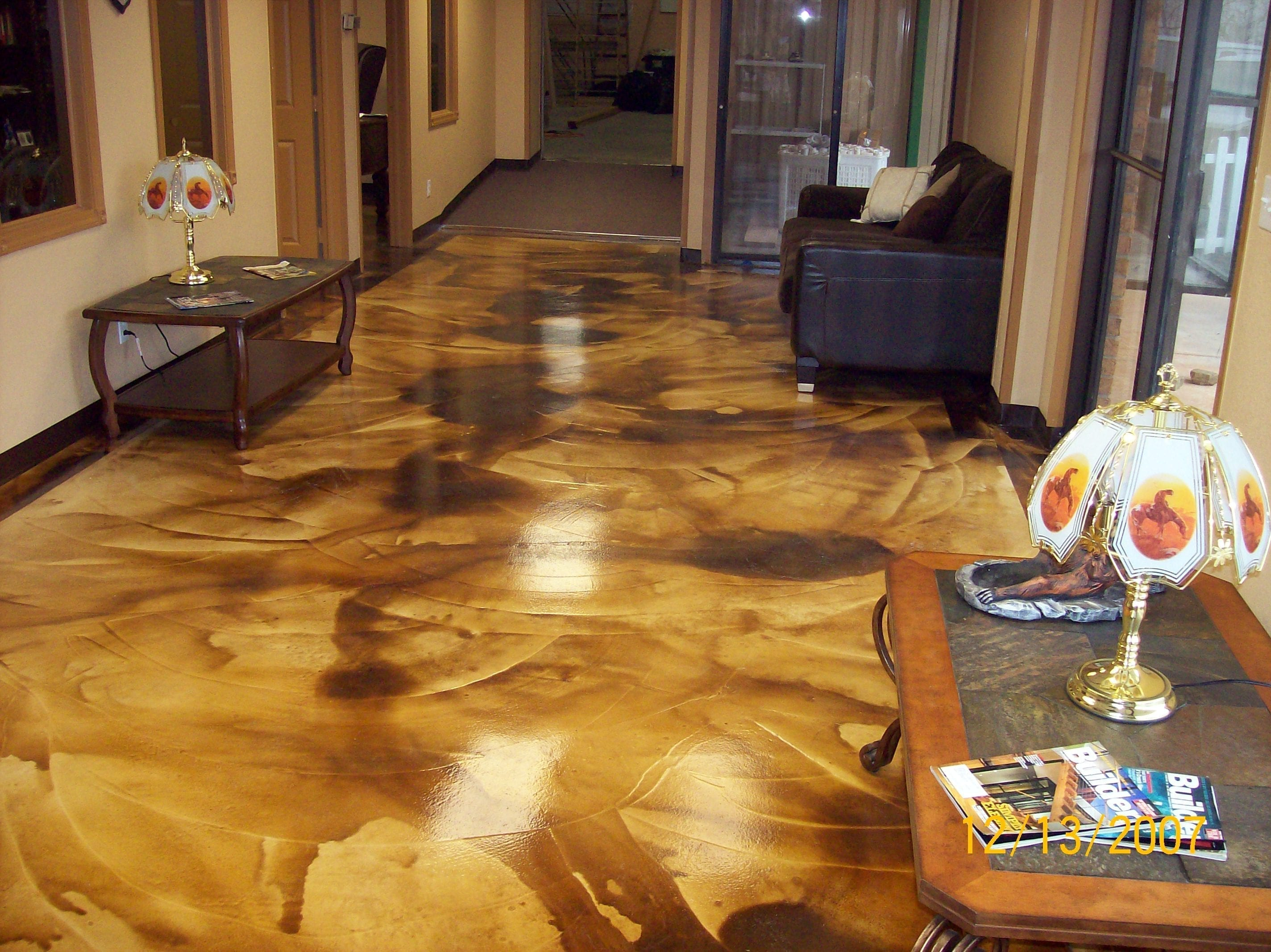 Design by project: How Was This Concrete Acid Stain Project Done?