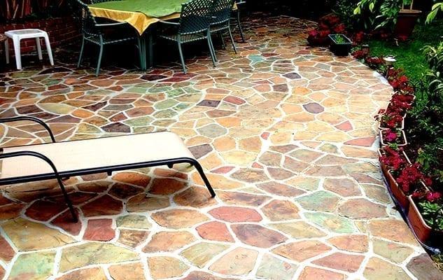 Design by colorant: Stenciled Concrete Designs