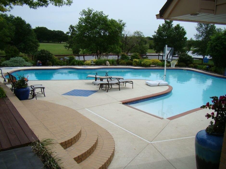 Concrete Pigment Overlay Pool Deck