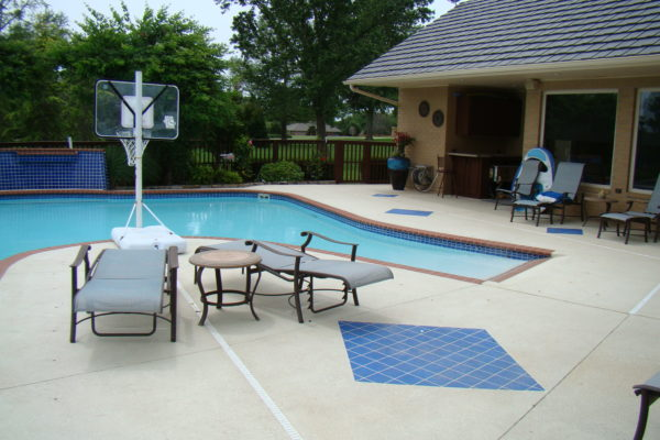 Colored Concrete Overlay Pool Deck