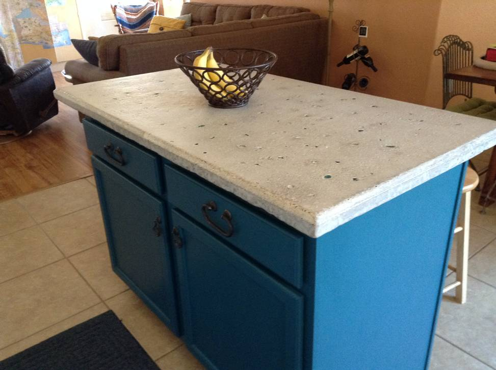 Design by project: Making a Concrete Countertop Island