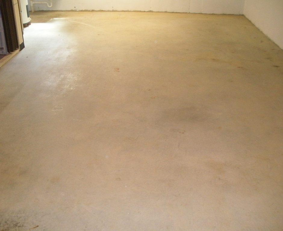 Concrete Basement Floor Before Staining