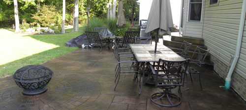 Stamped Concrete Stain Outdoor Concrete