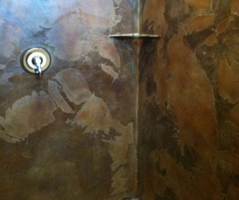 Acid Stained Outdoor Concrete Shower