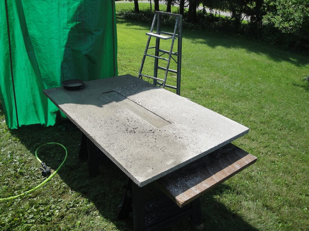 Unfinished Concrete Table