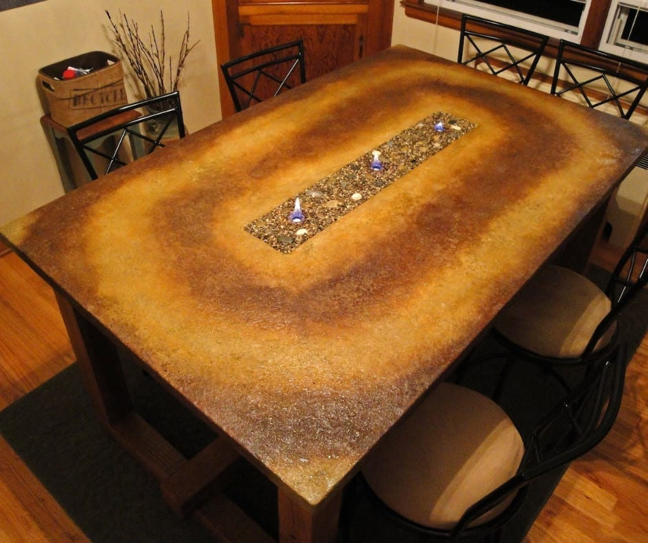 Design by project: How To Make a Concrete Fire Table
