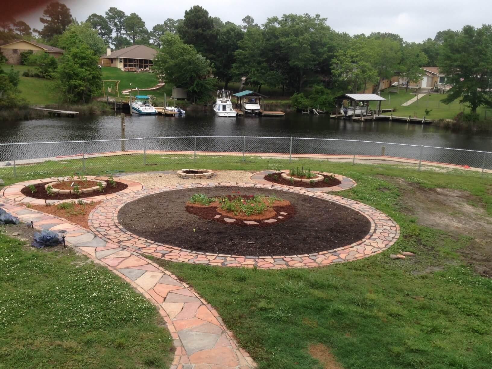 Design by project: Colored Concrete Pavers Backyard Design