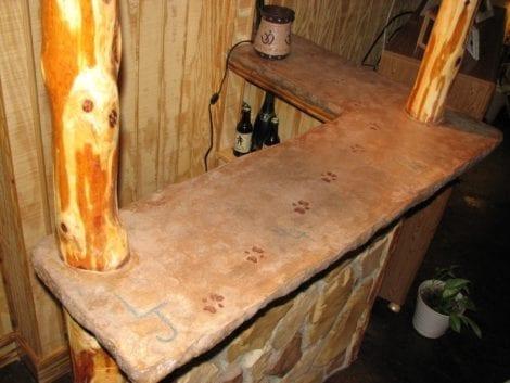 DIY Concrete Tiki Bar