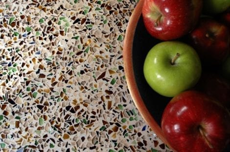 Crushed Glass Aggregates Countertop