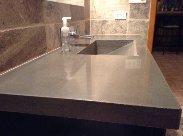 Design by project: Integrally Colored Concrete Vanity