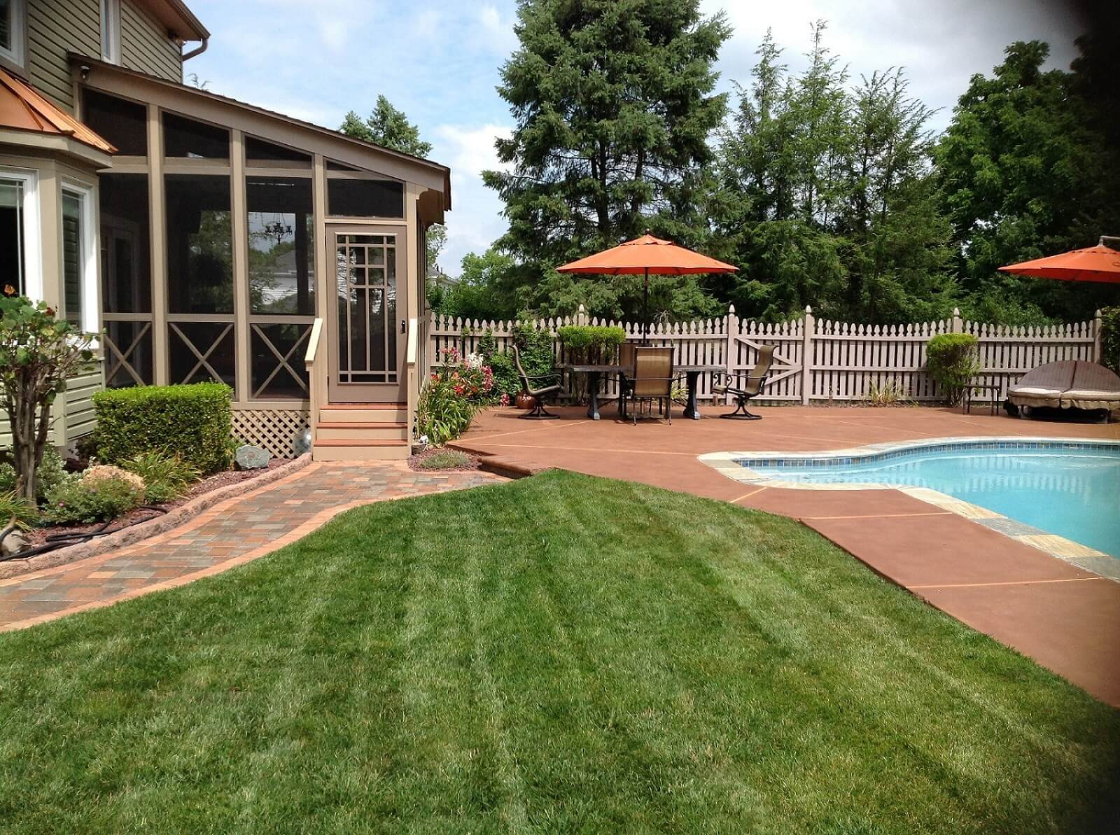 Design by project: Staining Concrete Pool Decks