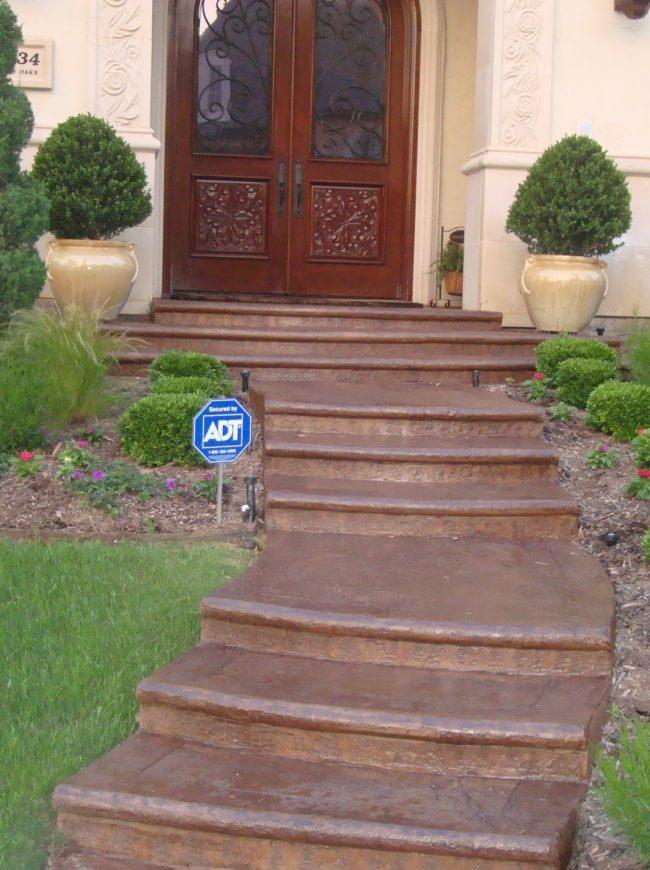 Tinted Concrete Sealer Steps