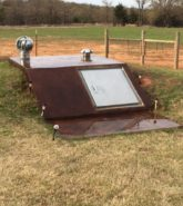 Coffee Brown Concrete Storm Shelter