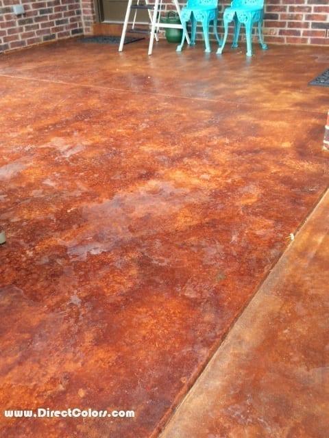 Salt water pool deck