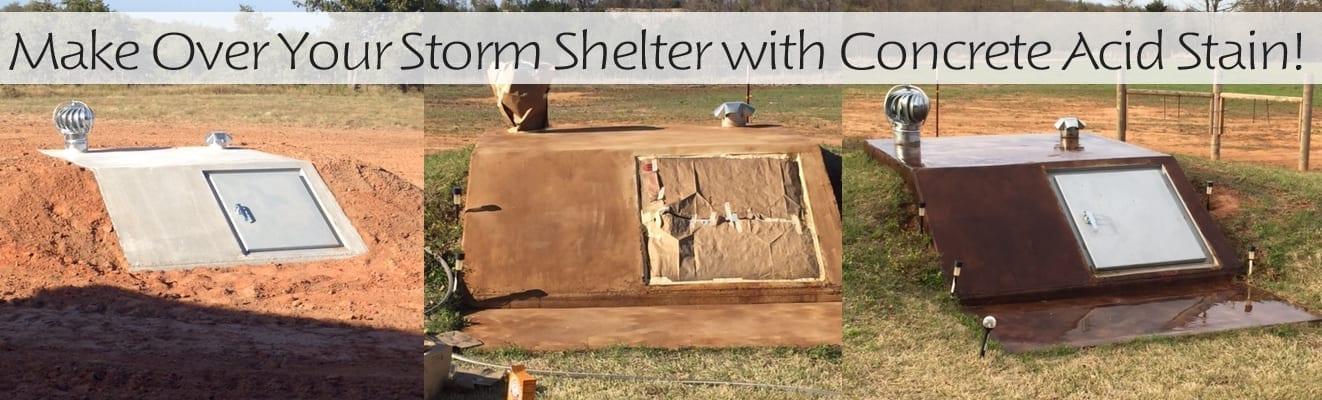 Color Gray Concrete Storm Shelter