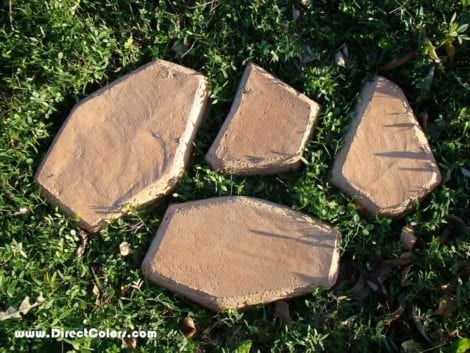 Colored Concrete Stepping Stones