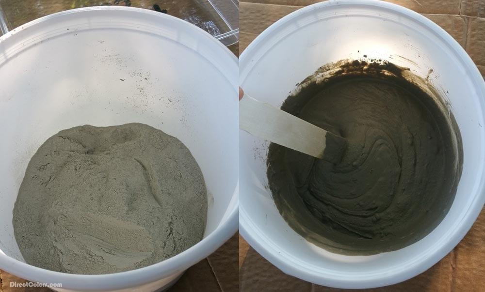 Mixing Concrete Overlay