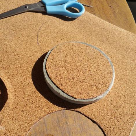 DIY Concrete Coasters - Cork