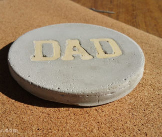 DIY Father's Day Concrete Coasters