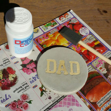 DIY Concrete Coasters - Seal