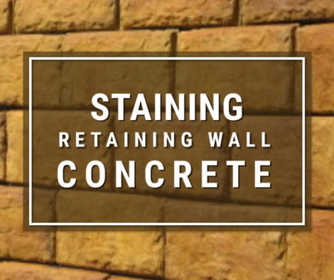 Acid Staining Concrete Retaining Wall