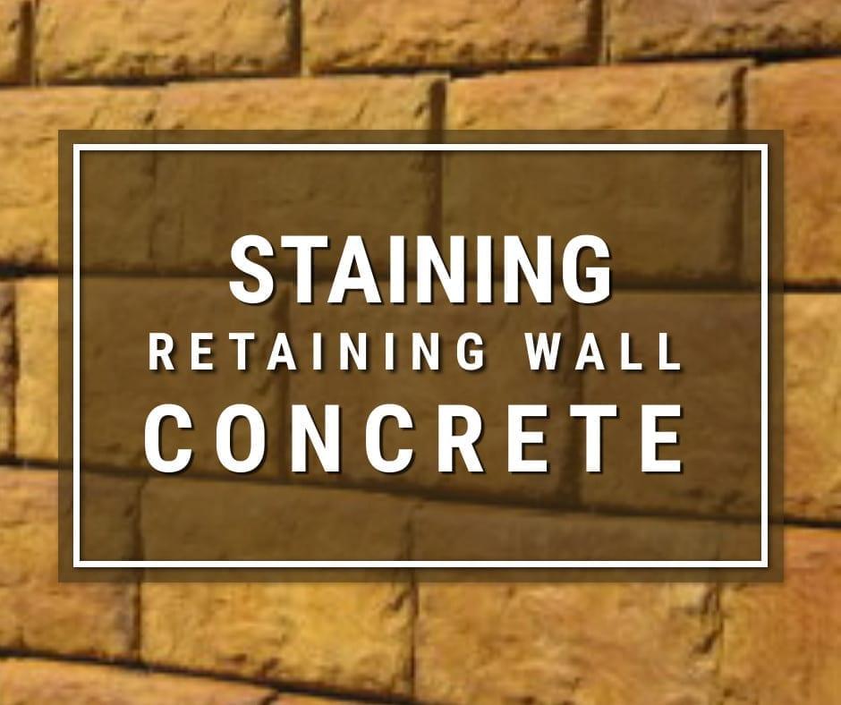 Acid Staining Concrete Retaining Wall