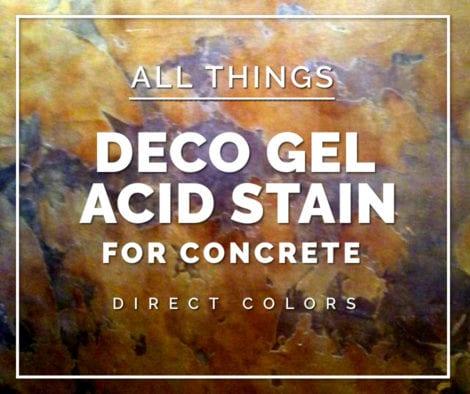 Deco Gel Acid Stain for Concrete