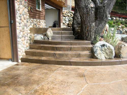 Design by project: Stamped Concrete Color Stain Ideas