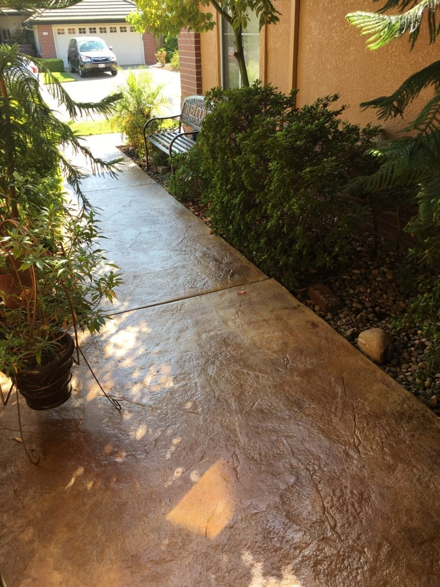 Acid Stained Concrete Walkway