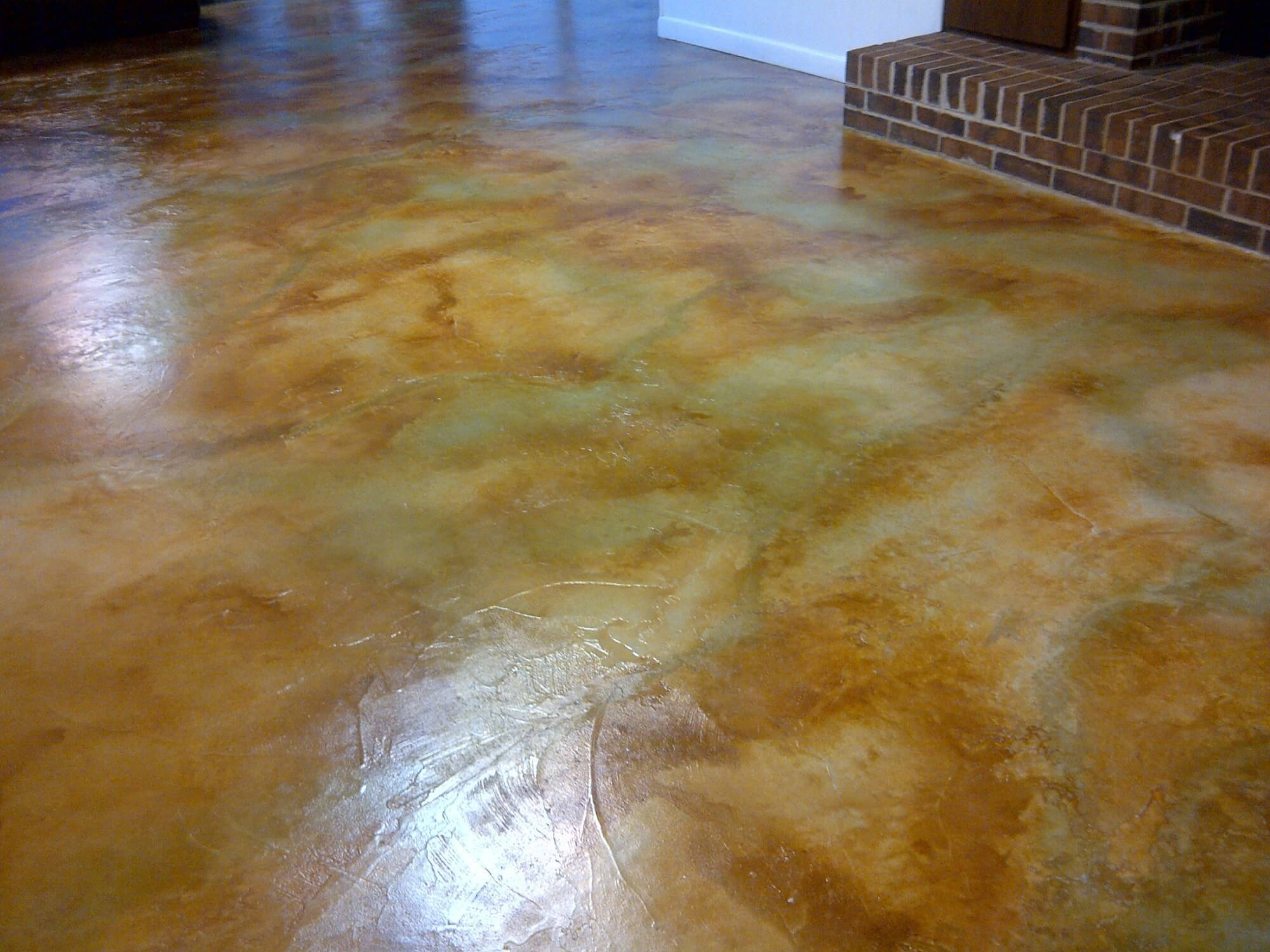 Design by project: Basement Floor Concrete Overlay Magic
