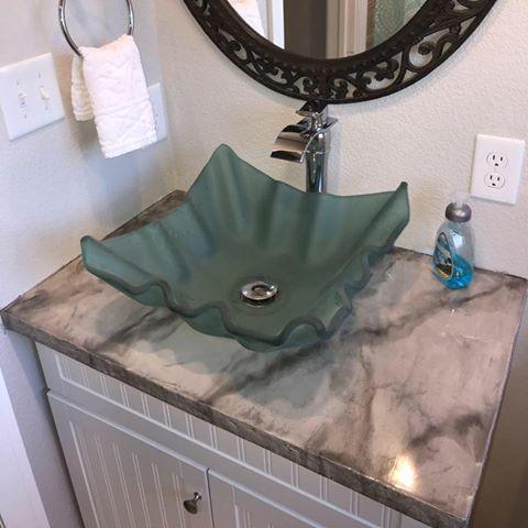 Metallic Epoxy Bathroom Vanity