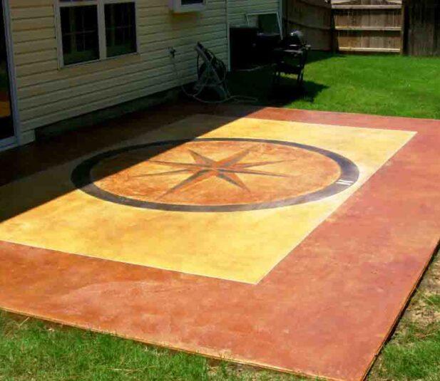 Acid Stain Concrete Patio Design