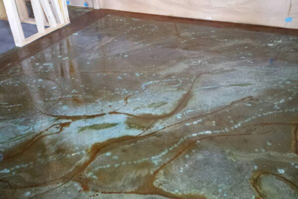 Acid Stain Marble Floor Design