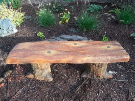 Acid Stained Concrete Bench