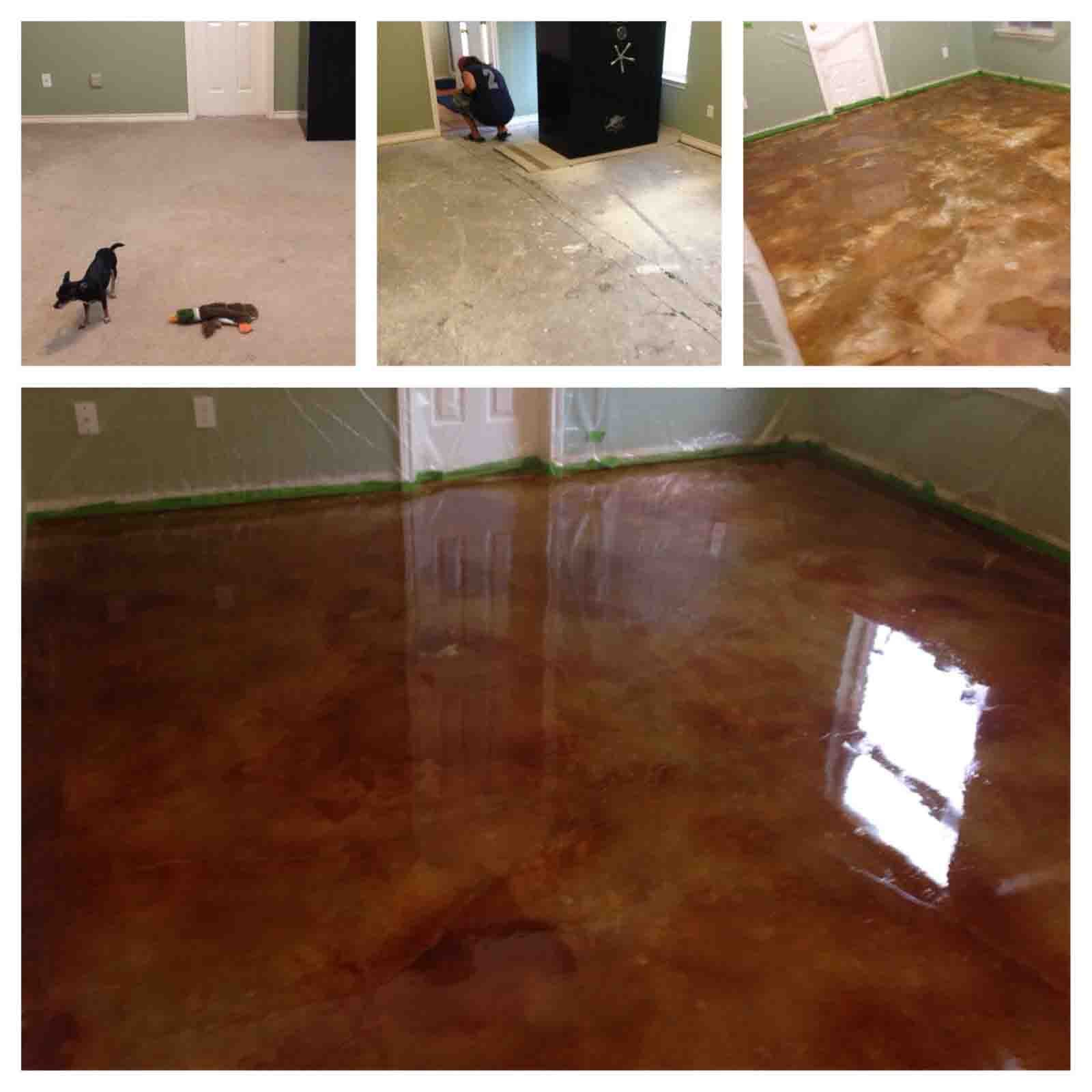 Design by color: English Red Concrete Stain Photo Gallery