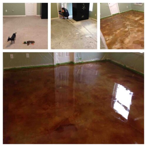 Acid Stained Floor Project