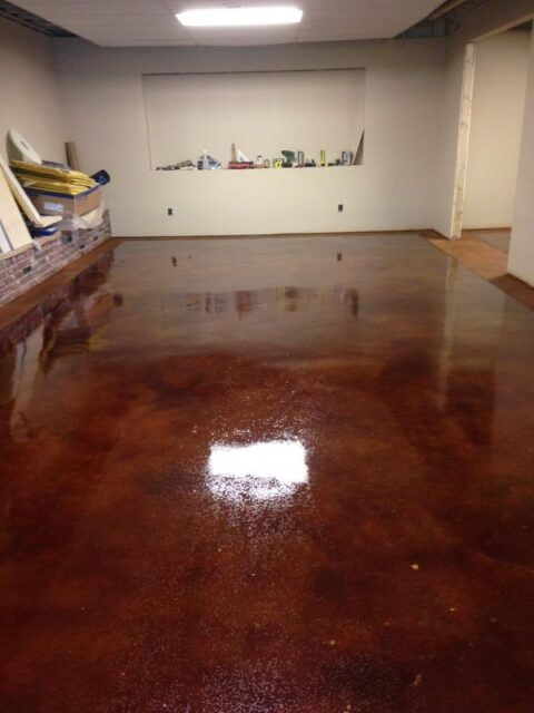 Acid Stained High Gloss Floor