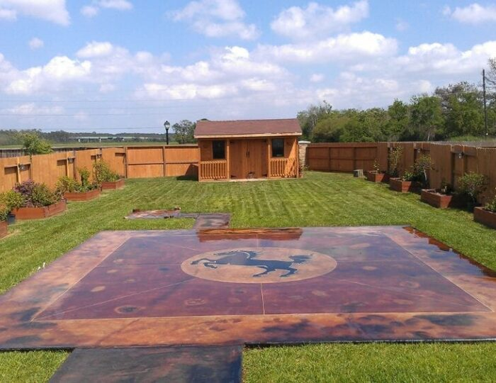 Acid Stained Patio Design