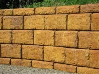 Acid Staining Concrete Retaining Walls