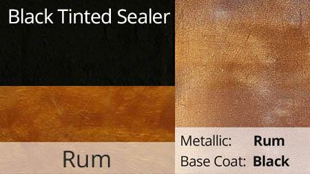 Black Tinted Sealer with Rum Metallic Pigment