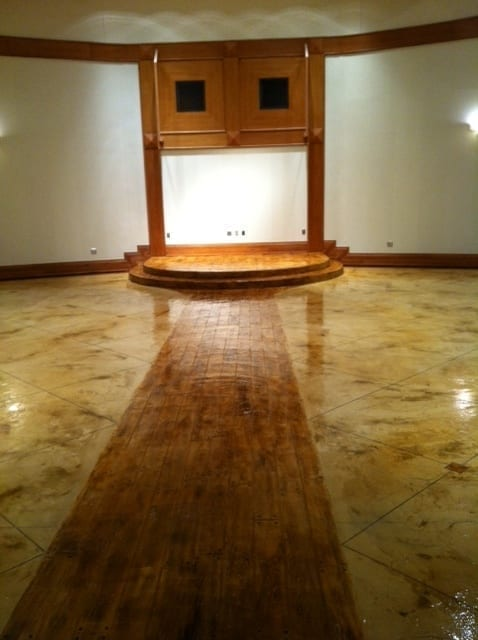 Acid Stained Concrete Overlay